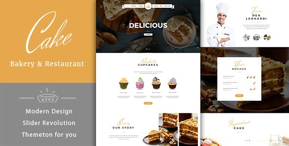 Cake Shop Html Website Templates From Themeforest