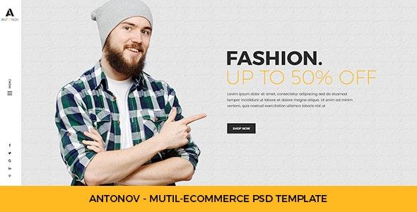 Antonov - Mutil Ecommerce PSD Template - Fashion Retail