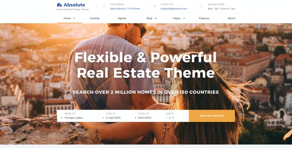 Absolute - Real Estate PSD Template