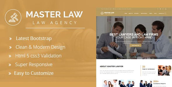 Lawyer - Company HTML Template