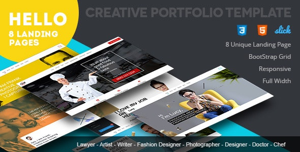 Portfolio Responsive Template - Resume / CV Specialty Pages