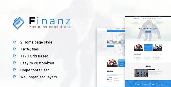 Finanz - Business HTML Template - Business Corporate