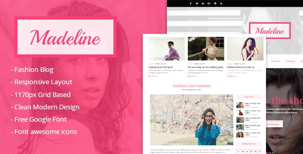 Madeline Fashion blog html Template - Fashion Retail