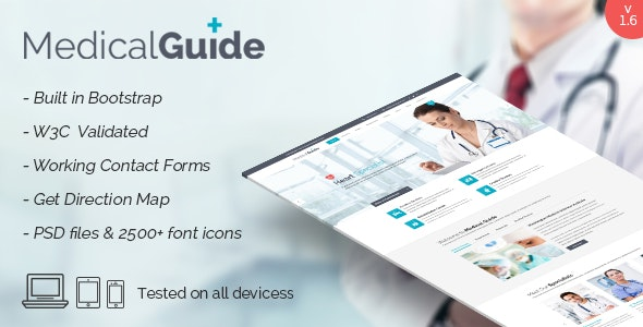MedicalGuide - Responsive HTML Template - Health & Beauty Retail