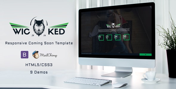 Wicked - Responsive Coming Soon - Under Construction Specialty Pages