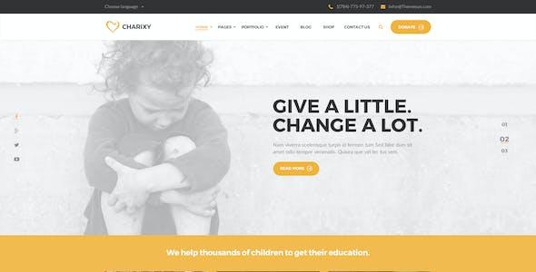 Charixy - Charity/Fundraising PSD Template