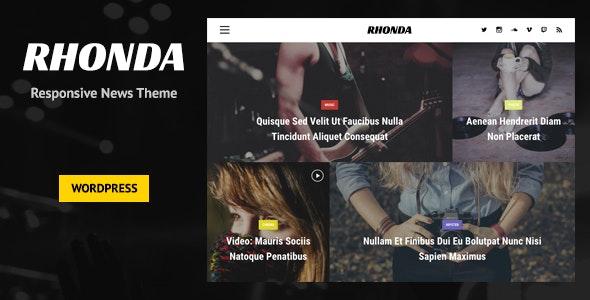 Rhonda - Responsive WordPress News Theme - News / Editorial Blog / Magazine