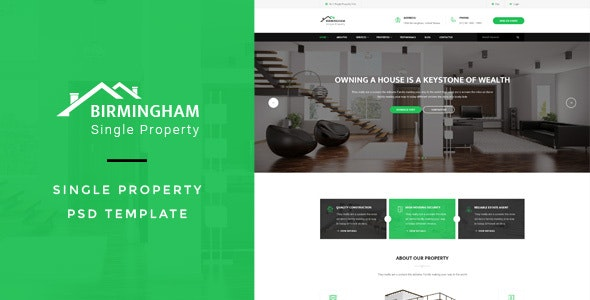 Brimingham : Single Property PSD Template - Business Corporate