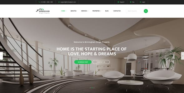 Brimingham : Single Property PSD Template