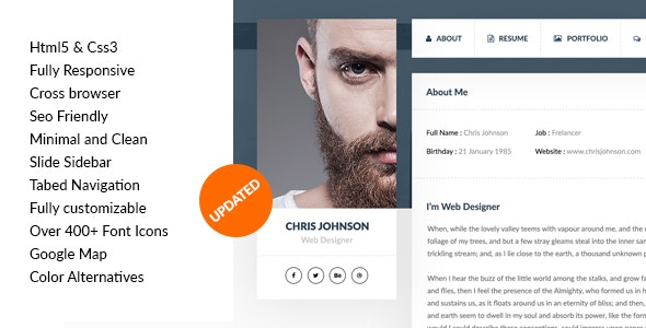 vCard & Resume Template - Virtual Business Card Personal