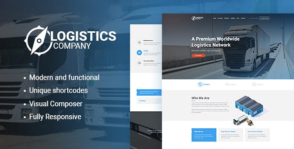 Logistics / Transportation and Warehousing Shipment WordPress Theme