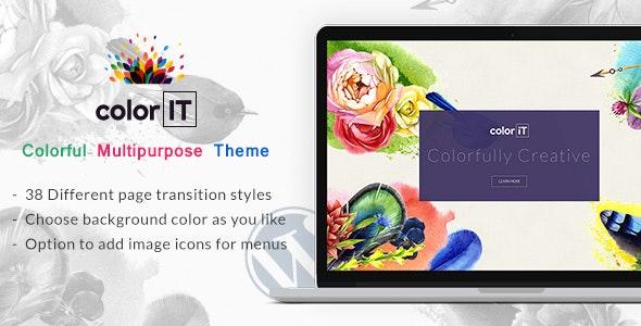 ColorFolio - Freelance Designer WordPress Theme - Creative WordPress
