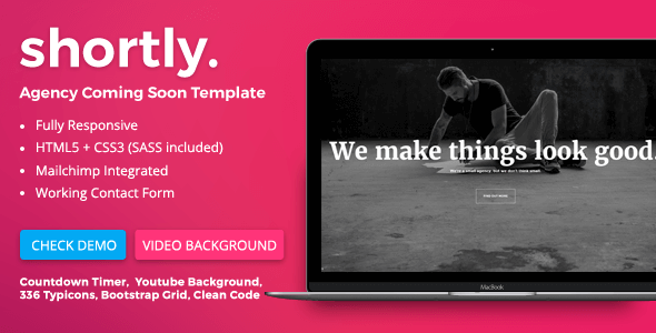 Shortly - Agency Coming Soon HTML Template - Under Construction Specialty Pages