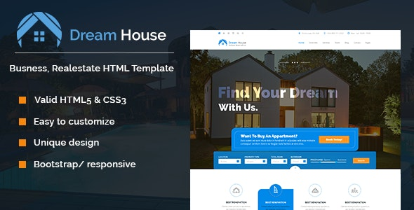 Dream House | Real estate HTML template - Business Corporate