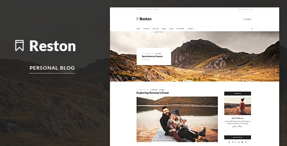 Reston - Personal Blog HTML Template - Personal Site Templates