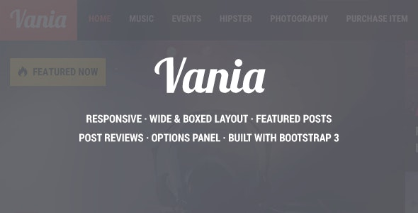 Vania - Responsive WordPress News Theme - Blog / Magazine WordPress