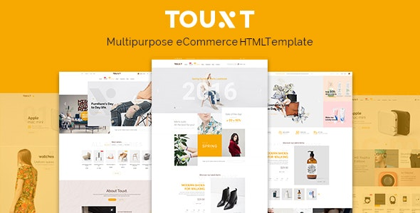 Touxt - Ecommerce HTML Template - Retail Site Templates