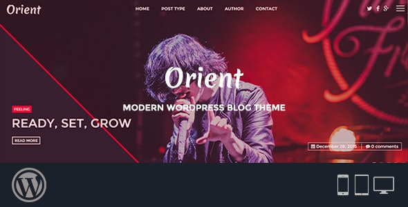Orient - Modern WordPress Blog Theme - Personal Blog / Magazine