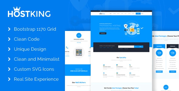 HostKing - Web Hosting Domain Technology PSD Template - Hosting Technology