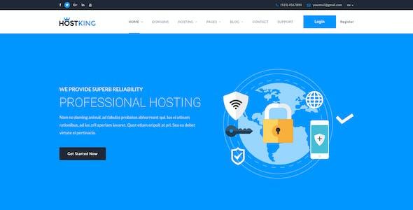HostKing - Web Hosting Domain Technology PSD Template