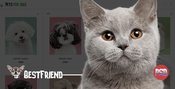 BestFriend - Pet Shop PSD Template - Retail Photoshop
