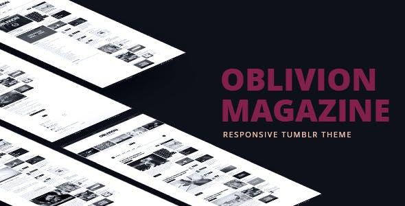 Oblivion Magazine - Responsive Tumblr Theme