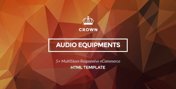 Crown - Audio Equipments HTML Template - Retail Site Templates