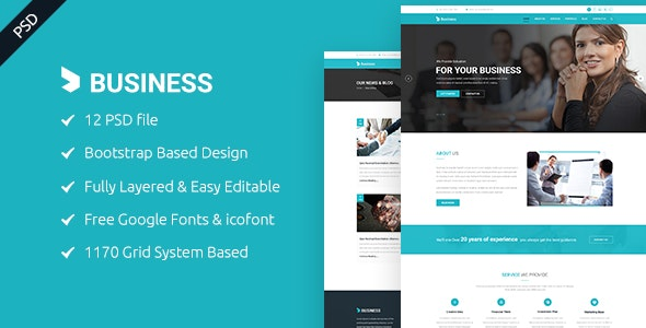 Business - Business and Corporate PSD Template - Corporate Photoshop