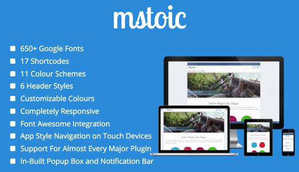 Mstoic - Responsive Blog Theme - Blog / Magazine WordPress