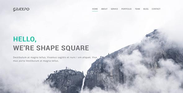 Graxpo - Bootstrap Agency and Portfolio Template HTML