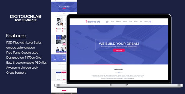 Digitouchlab PSD Template - Software Technology