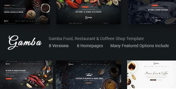 Gamba - Restaurant & Coffee Shop HTML Template - Restaurants & Cafes Entertainment