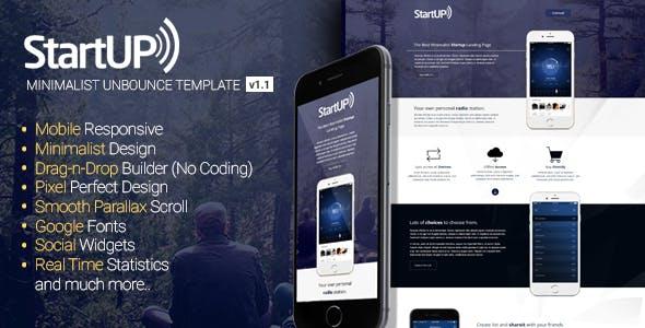 Startup - Minimalist Responsive Unbounce Template