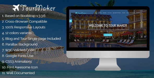 Tour Maker - Creative Travel Agency HTML Template - Travel Retail