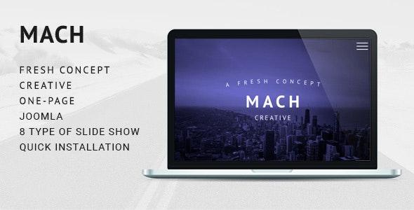 MACH - Fresh Concept One Page Creative Joomla Theme - Creative Joomla