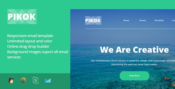 Pikok - Multipurpose Responsive Email Template + Stampready Builder - Newsletters Email Templates
