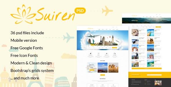 SUIREN Service/Travel Company Multi-Purpose PSD Template - Photoshop UI Templates