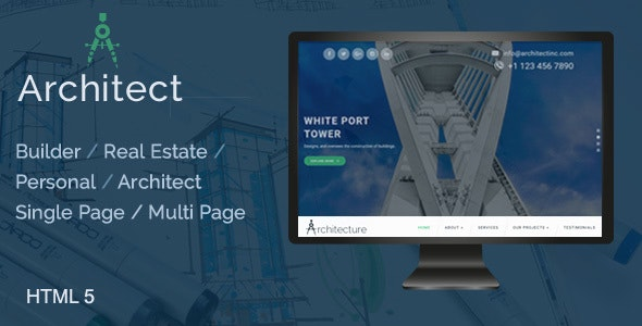 Architect / Builder / Single Property / Personal HTML Template - Business Corporate