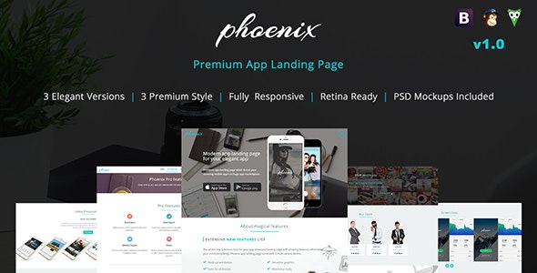 Phoenix App Landing Page - Technology Landing Pages