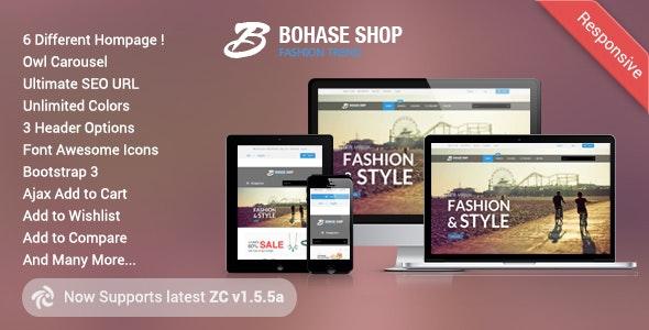 Bohase - Responsive and Multipurpose Zen cart Theme - Zen Cart eCommerce