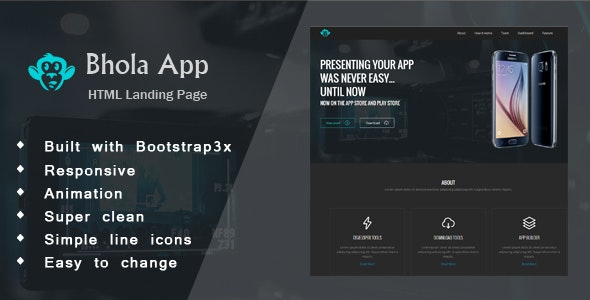 Bhola App - Responsive Landing Page HTML - Software Technology