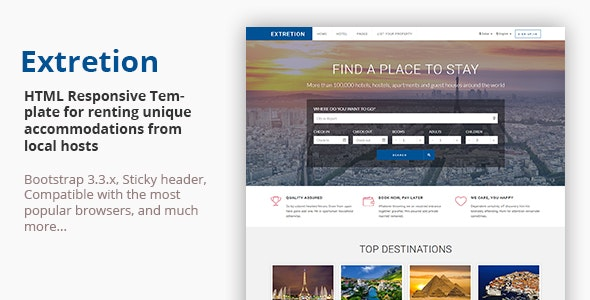 EXTRETION - Local Accommodations HTML Template - Travel Retail