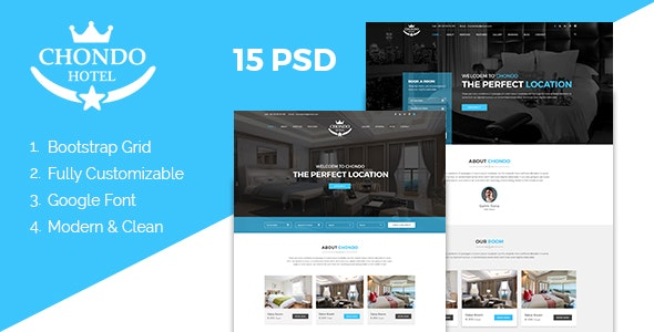 Chondo - Hotel PSD Template - Travel Retail