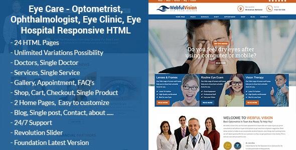 EyeLove - Optometrist & Eye Care HTML Template - Health & Beauty Retail