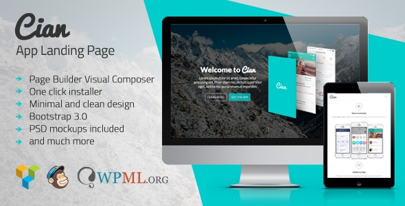 Cian - App Landing Page WordPress - Software Technology