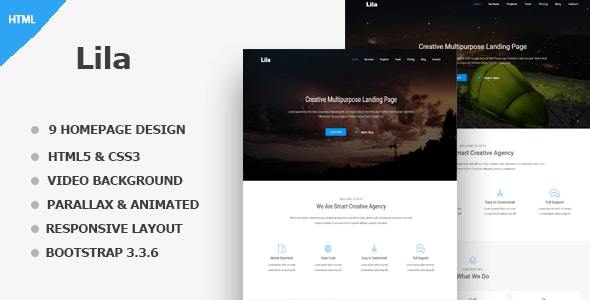 Lila - One Page Parallax - Corporate Site Templates