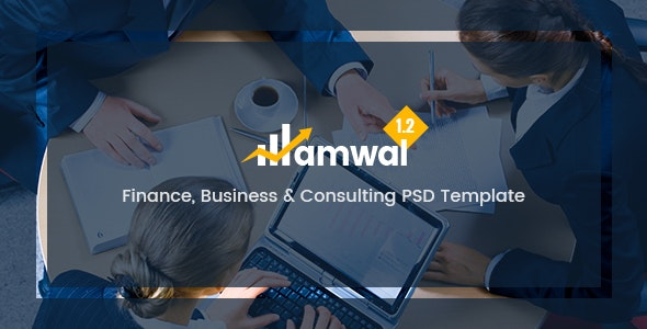 Amwal - Finance, Business & Consulting PSD Template - Business Corporate