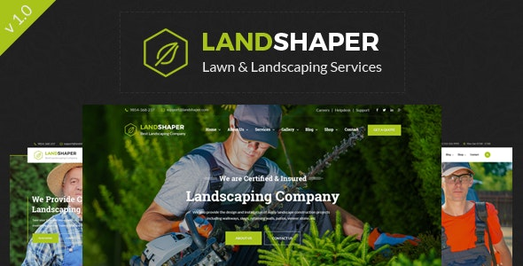 The Landshaper - Gardening and Lawn HTML Template - Business Corporate