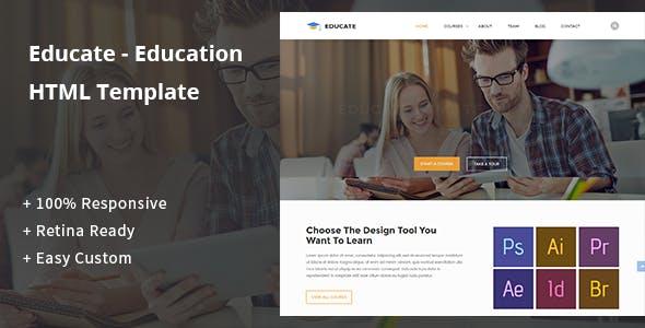 Educate - Education HTML Template