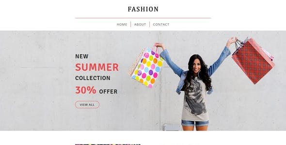 Fashion - Ecommerce Responsive Email Template + Stampready Builder